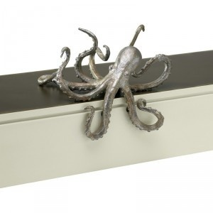 Octopus Shelf Decor by Cyan Design, I would spray paint it orange to bring color to a room!