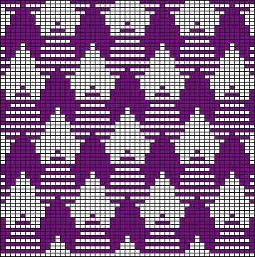 tessellating three tone pattern (odd knit)