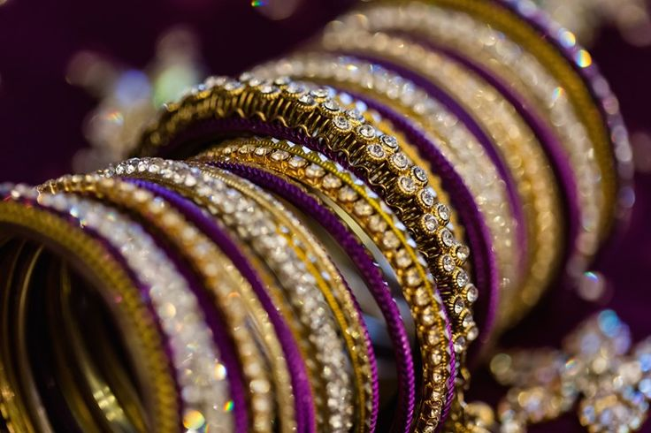 purple and gold bangles for an Indian fusion wedding | Jamie Howell Photography, Atlanta