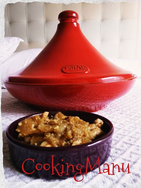 Tajine di pollo, mele e cipolle caramellate