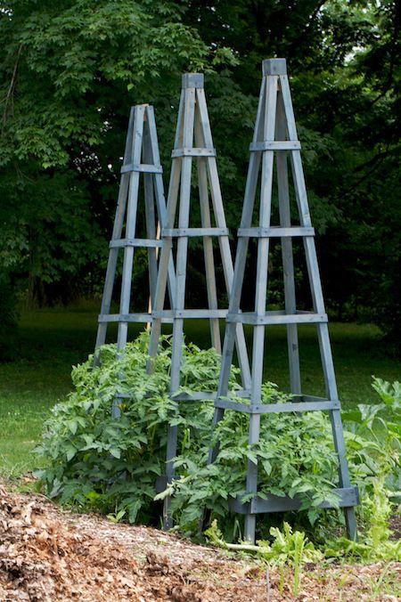 obelisk project for vegetable garden