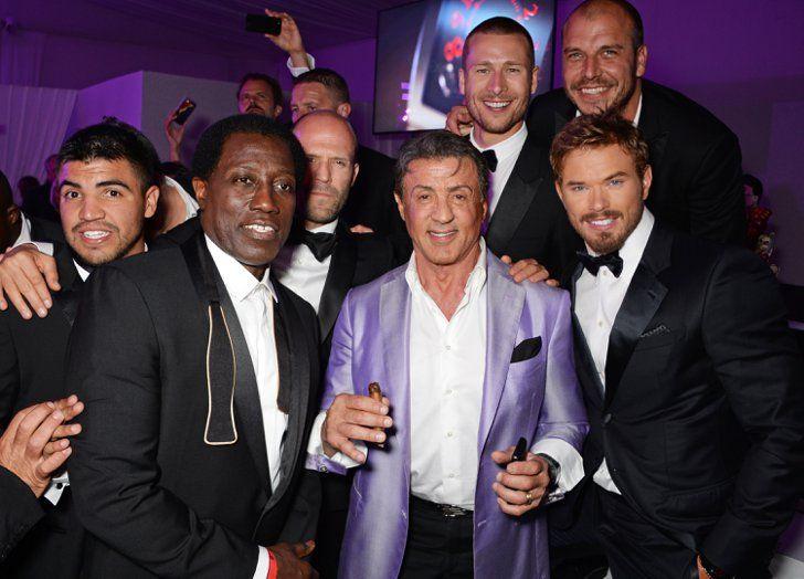 Pin for Later: Le glamour est au rendez-vous au festival de Cannes !  Les acteurs de The Expendables 3 en train de faire la fête au Gotha Night Club, dimanche.