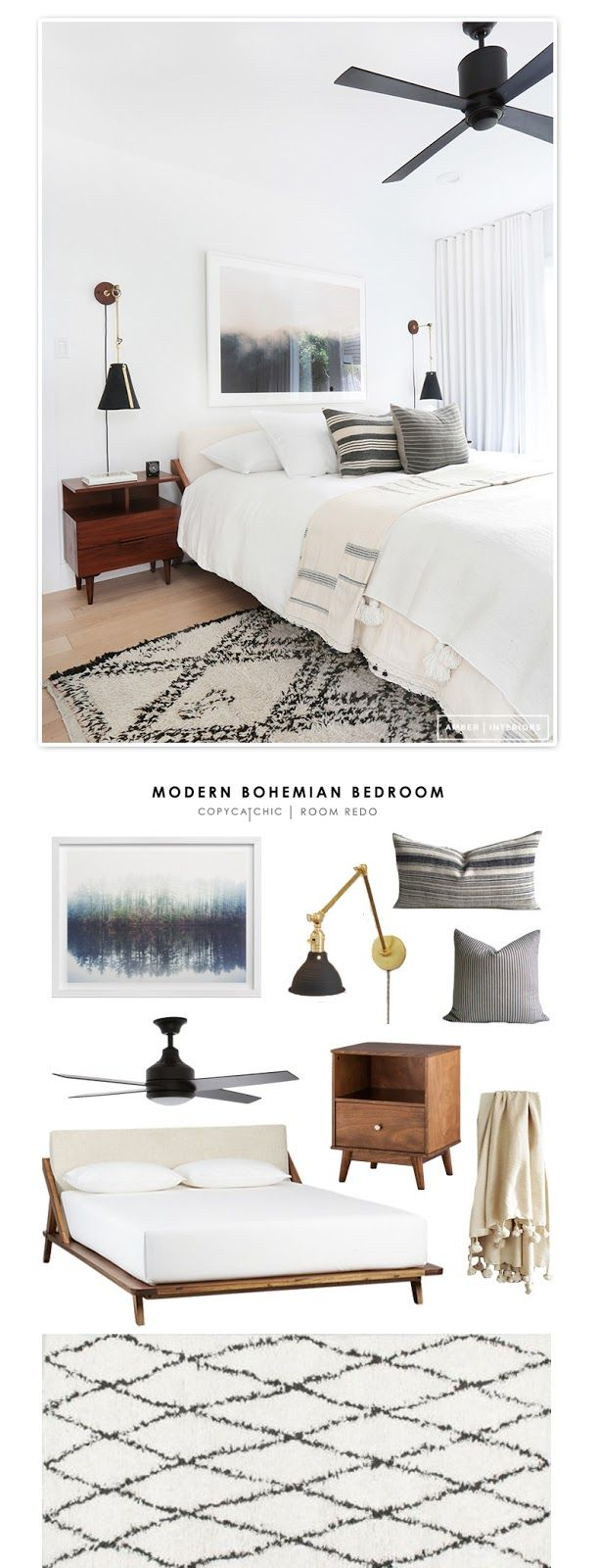 Copy Cat Chic Room Redo | Modern Bohemian Bedroom