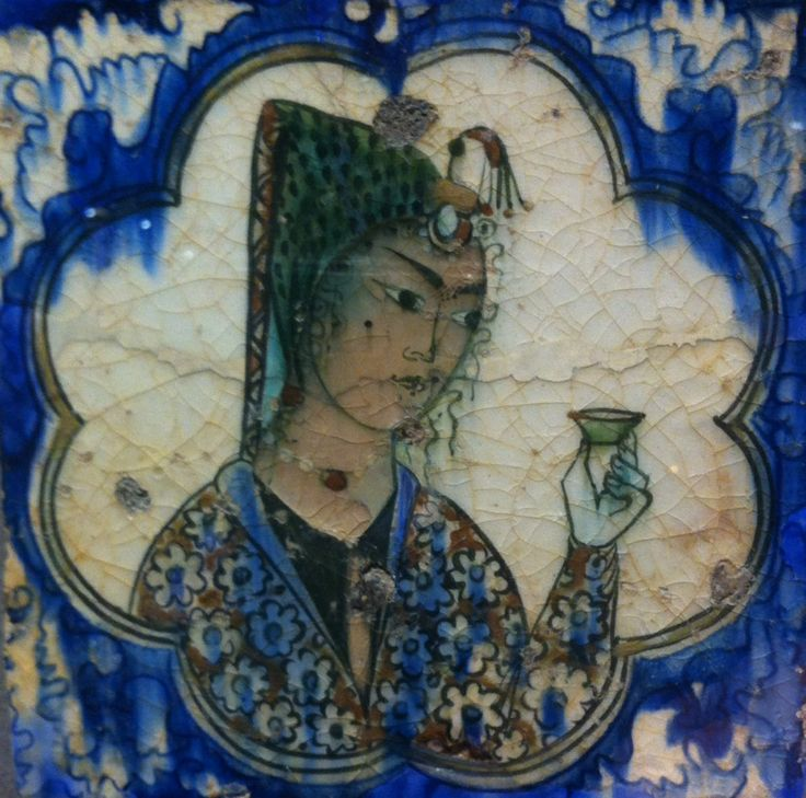 Tile from Louvre collection from Iran circa 1590-1630