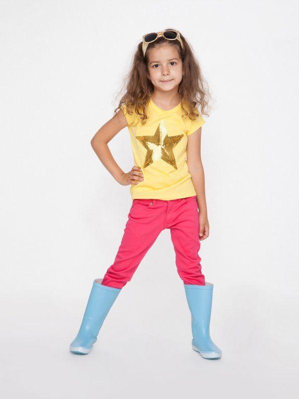 Długie spodnie dla dziewczynki, różowe. Happy Kids. #girlswear