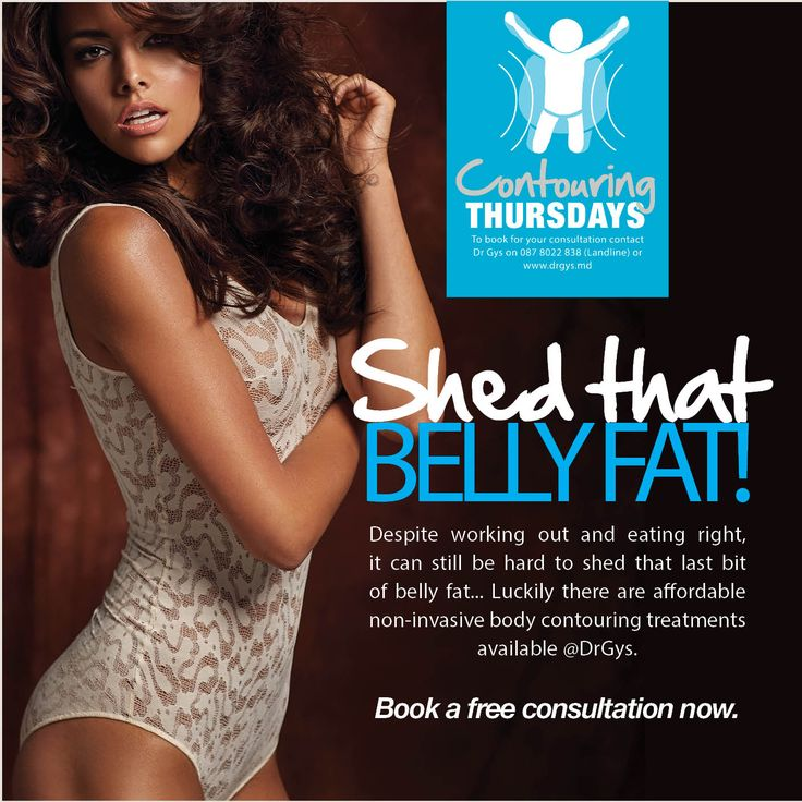 Shed that belly #fat! Despite working out and #eating right, it can still be hard to shed that last bit of belly fat... Luckily there are affordable non-invasive #body #contouring #treatments available #DrGys. Book a #free consultation now. #health #weightloss #diet
