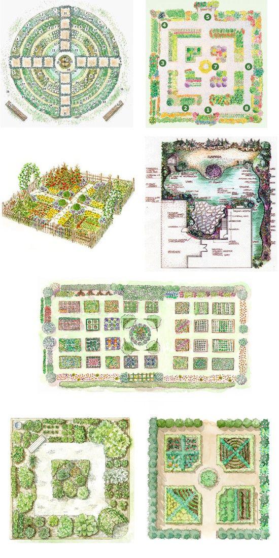 69 best vegetable garden design le potager images on for Kitchen garden ideas