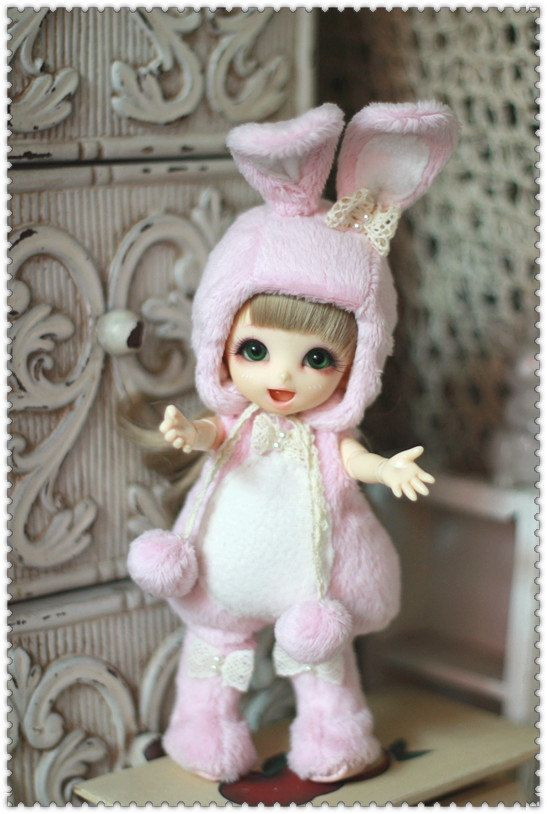 Bunny Outfit (Pink) For Lati Yellow or PukiFee. $33,00, via Etsy.