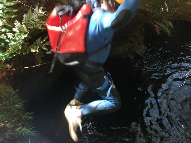 A leap of faith in Sheep Dip Canyon