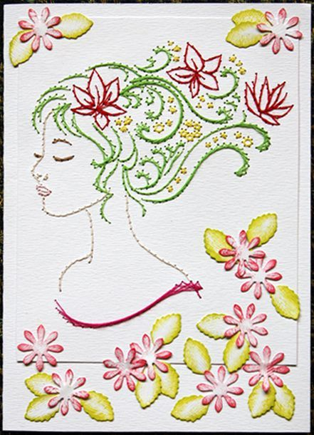 embroidery on paper - Google Search