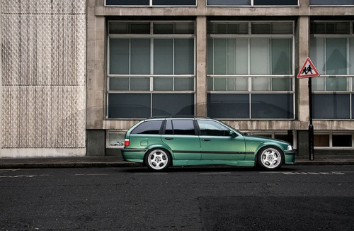 Non factory E36 BMW M3 Touring by StephenHall on Flickr.