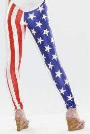 Leggings bandera Estados Unidos. Este es un legging más atrevido que por lo general y por eso lo recomendamos para ocasiones especiales, en donde exista un ambiente de mucha fiesta.