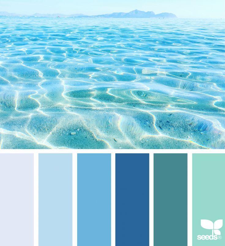 Color Sea Blue Colour Palette Beach Color Palettes Blue Color