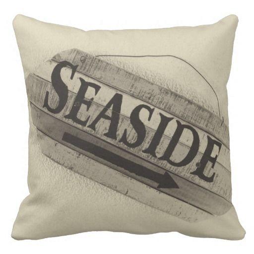 SEASIDE - Black & White Photo Pillow  #Beach #Pillow #Photograph #Caribbean #CaribLoveDesigns