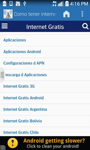 """This application will help you get free internet on your mobile, learn how to get free internet on your android with 4g and 3g speed, do not waste time and start enjoying a high-speed internet and the best of all is that we wil get 'free internet """"without paying a cent. The methods that I show you here, are currently working for all countries.Application features:- You will have Free Internet 4g high speed. - Free Internet 3g Speed. - We also have methods to decrypt paswords for ..."""