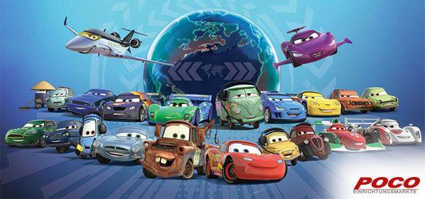 Cars-Charaktere auf einen Blick. Ca. 33 x 70 cm