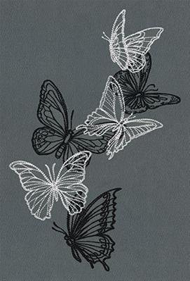 """Carole : """"Idée de mouvement pour une nuée de papillon."""""""