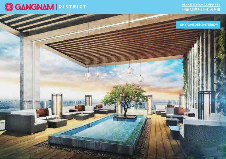 Fasilitas lengkap Apartemen Gangnam District Bekasiditawarkan antara lain : 1.Pollux Mall Bekasi dengan top tenants dan kerjasama dengan Lotte. 2.5 km space untuk lifestyle facilities, waterpark, pools (adults & kids), sky garden, gym centre, jogging tract, dll.