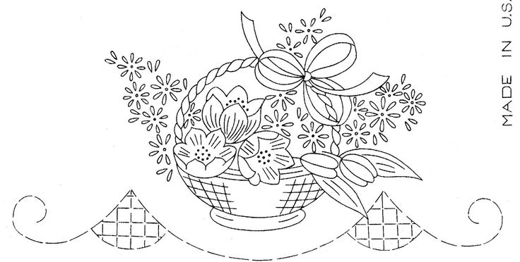 175 best embroidery baskets images on pinterest