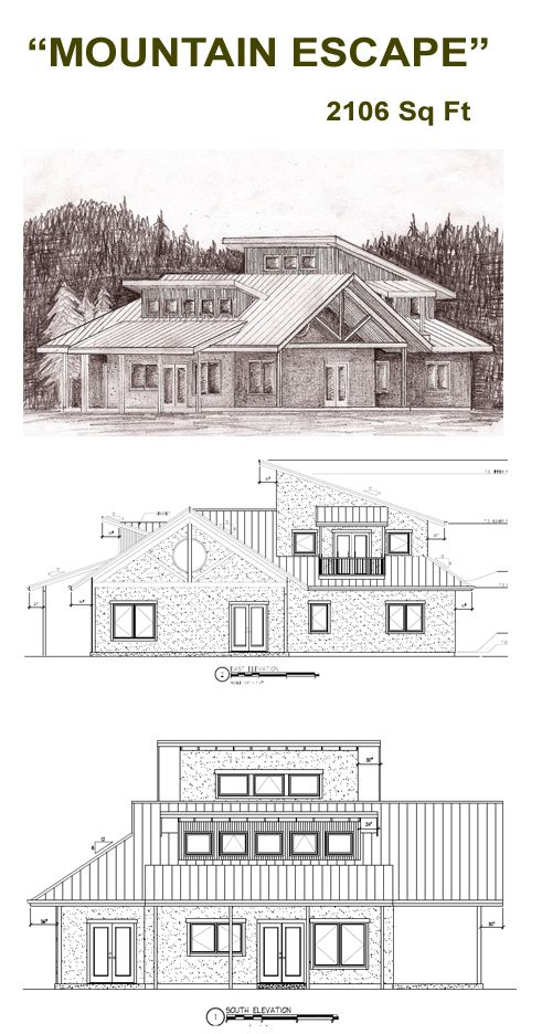 Mountain escape straw bale plans needs a few interior for Straw bale house plans free