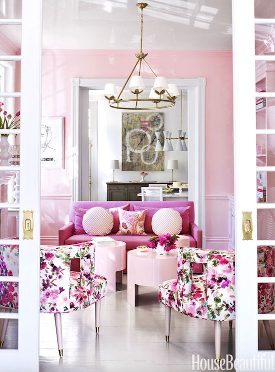 Bria Hammel Interiors | Holidays | 50 Shades of Pink