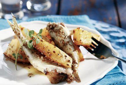 Σαρδέλες φούρνου με λεμονάτες πατάτες και σκόρδο-featured_image