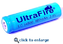 Lithium Battery 14500 Two Pack for Flashmax Flashlights - Ultrafire 1200mAh