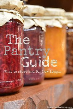 Your guide to understanding what and where to store food and for how long. Check out this pantry guide today. Check out the pantry guide.