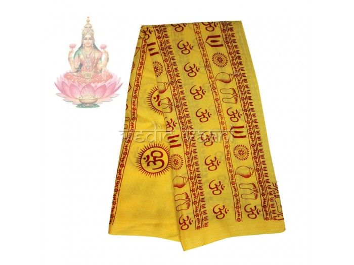 Goddess Mahalakshmi Shawl buy online from India, Vedicvaani.com Shawls, Pooja Shawls, Indian Shawls online, Purchase Pooja Shawl, Goddes Laxmi printed shawl.