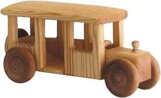 Large bus $65 The wheels on this bus do go 'round and 'round! Spacious enough to bus little toys about the town, thie simple design of this wooden toy is fun and...