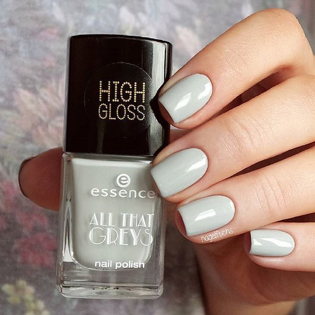 """thank you @nagelfuchs for this beautiful pic of our """"all that greys"""" trend edition nail polish """"03 greyt times"""". which nail polish of this trend edition is your favourite?  #essence #essencecosmetics #essencelove #loveatfirsttry #nailsonfleek #nailstagram #nailsoftheday #notd #nailswag #fallnails #nailartoohlala #nails #nailpolish #essencenailpolish #flawelessnails #beautiful #offwhite #offwhitenails #trendedition #allthatgreys #greyttimes #greynailpolish"""