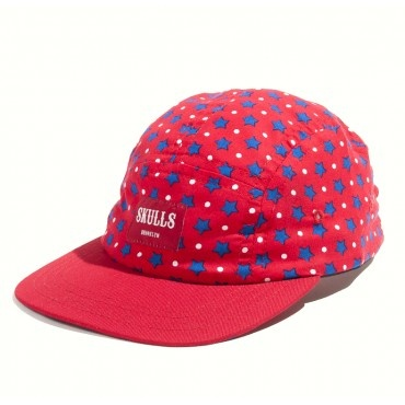Amerrrica Blue 5 Panel Cap from Skulls NYC. Now on sale for $39 @ www.murdok.com