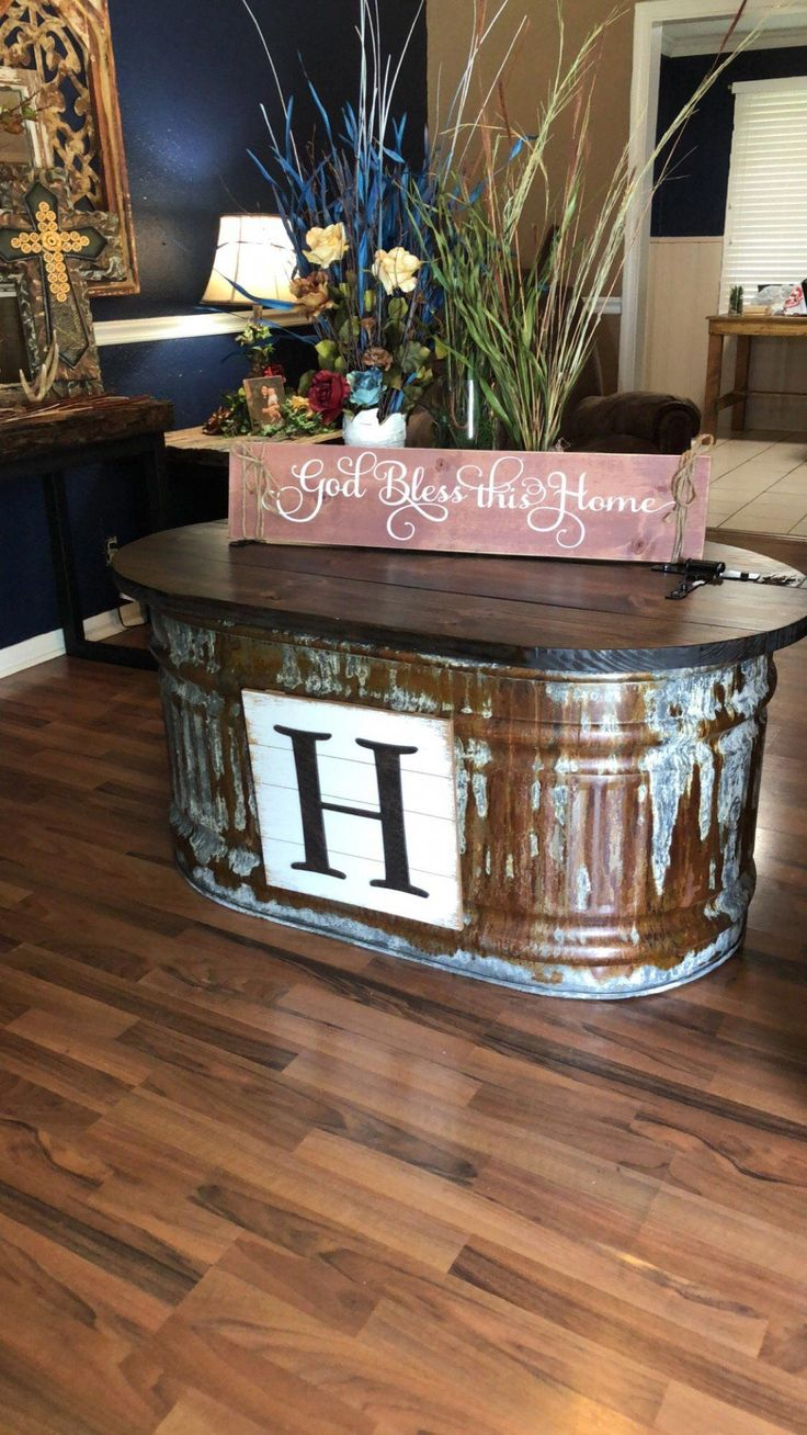 Rustic Water Trough Coffee Table In 2019