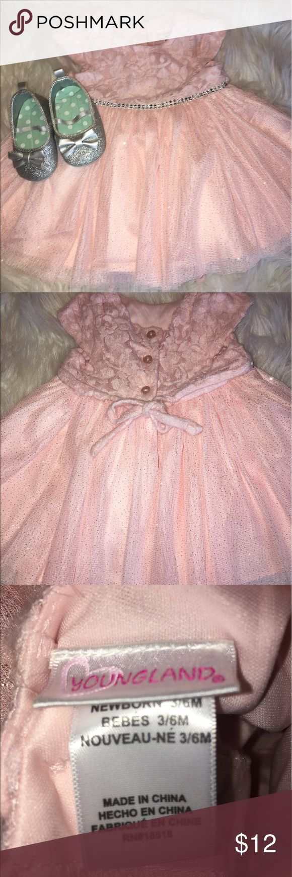 Baby clothes, pink sparkly dress and shoes Pretty dress and shoes, never used Youngland Dresses Formal