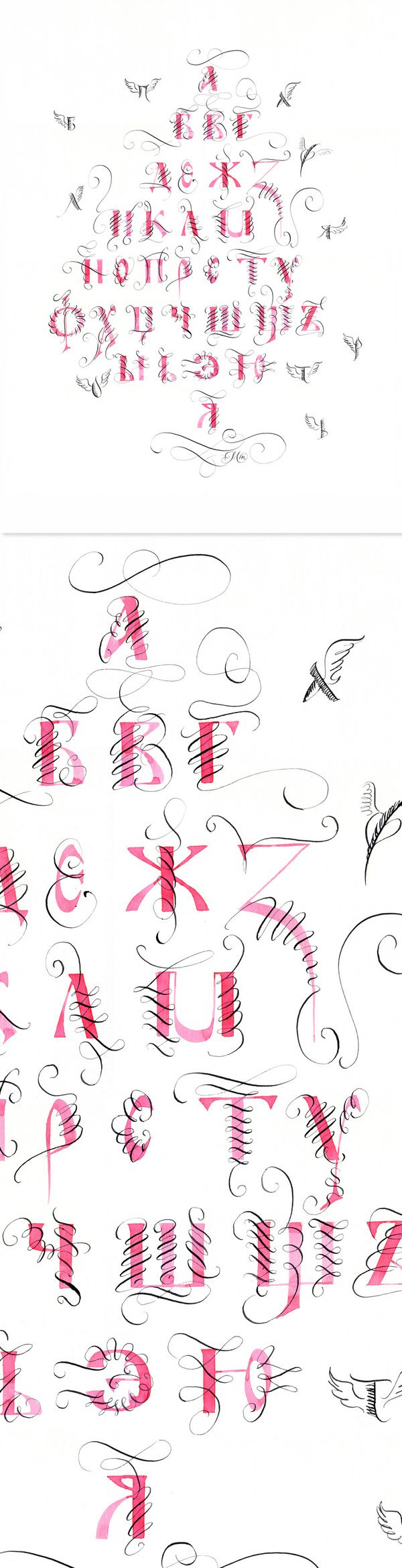 Artworks for calligraphy & typography festivals. by Marina Marjina