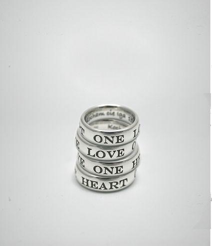 Gravierte Ringe, Silber mit individueller Gravur