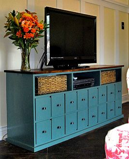 Love this cabinet and there is a tutorial!!