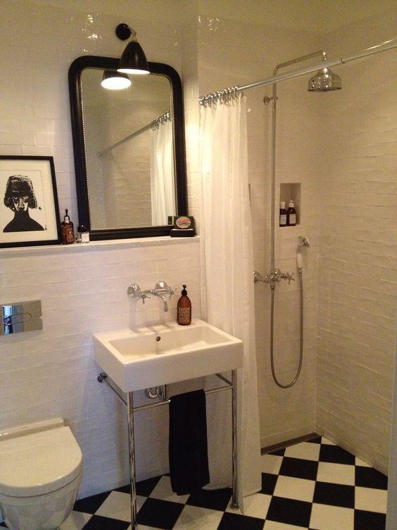 Badrum, 20-tal, svartvitt, sekelskifte, marmor, bathroom, black ...