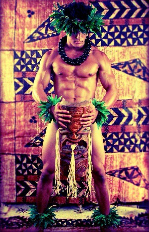 Hawaiian man. I noticed Polynesian men and women were very beautiful and many (a lot more than you see in the mainland) were extremely fit and toned! It's probably the healthier diet, atmosphere and natural lifestyle. ~Lilliandra