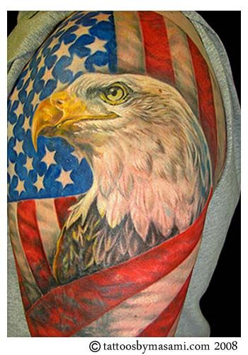 Bold Eagle & American Flag [cover-up] by Masami Pinky Inagaki ...