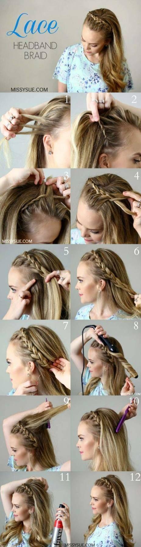 Trecce per capelli Idee semplici per 24+