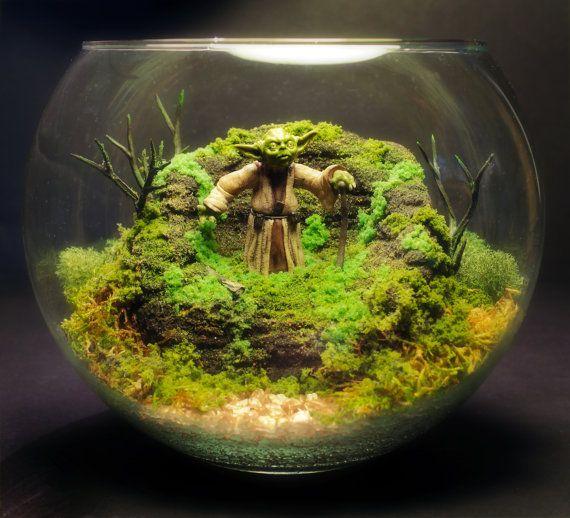 Yoda Deluxe Zen Garden Dagobah Terrarium / Diorama Byu2026