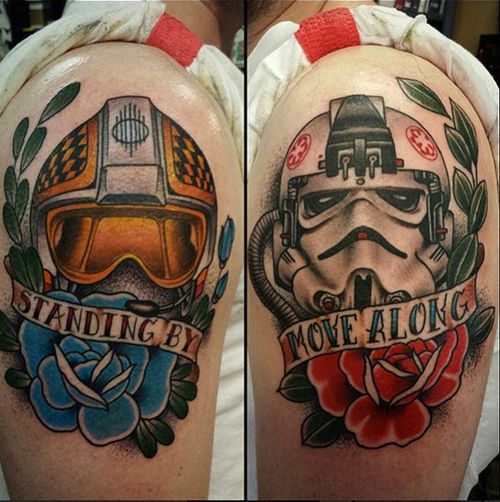 These ARE the tattoos we were looking for! Star Wars tattoos by Vinny Romanelli