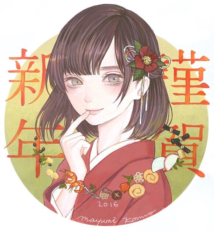 Happy New Year! 紺野真弓 Mayumi Konno 2016 キャンバスにアクリル Acrylic on canvas