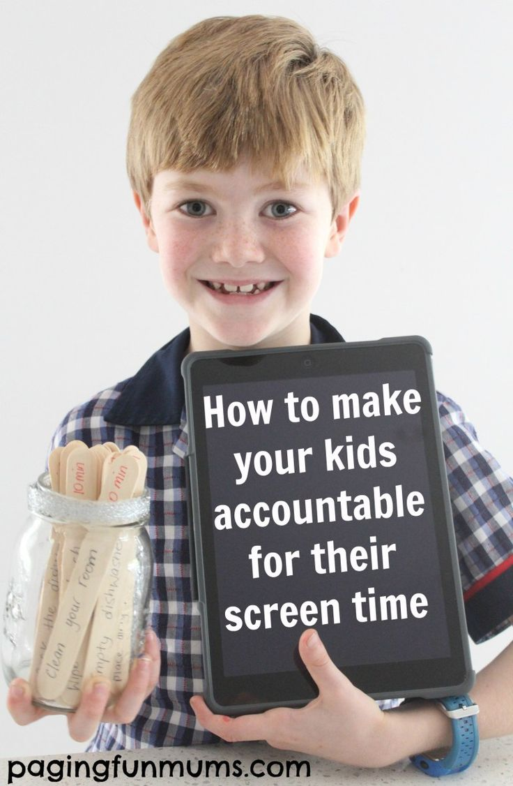 How to make your kids accountable for their screen time. This one simple trick will improve your family life!