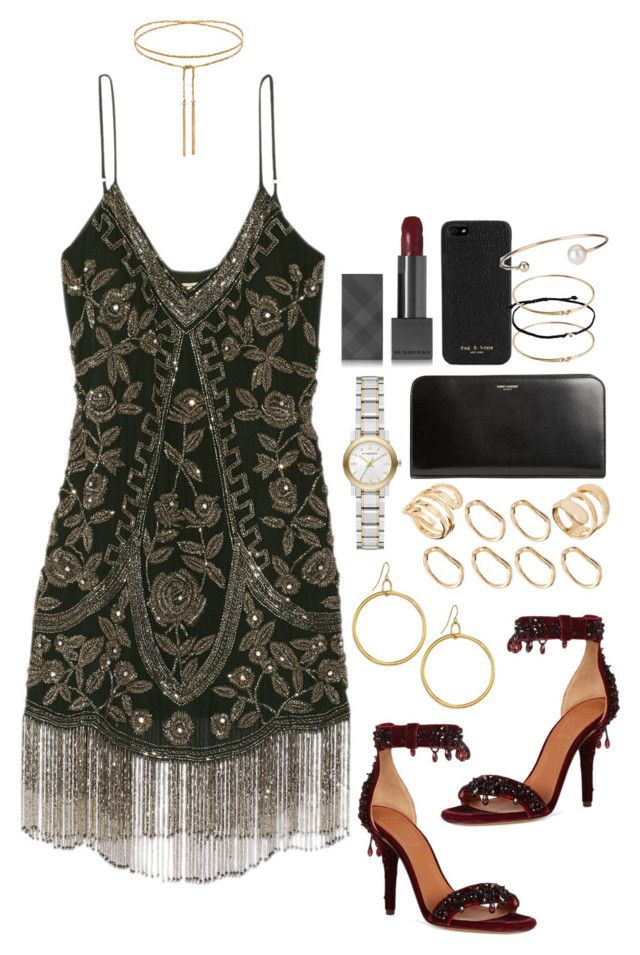 """""""Untitled #4068"""" by lily-tubman ❤ liked on Polyvore featuring Haute Hippie, Givenchy, Elizabeth and James, ASOS, Burberry, Yves Saint Laurent, rag & bone and Letters By Zoe"""