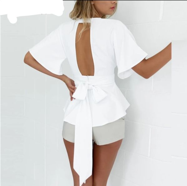 LEANNE BOW BACK BLOUSE