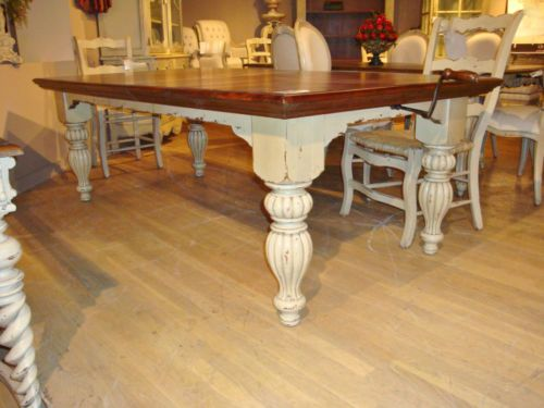 ... White Farmhouse Dining Table French Country 108 5