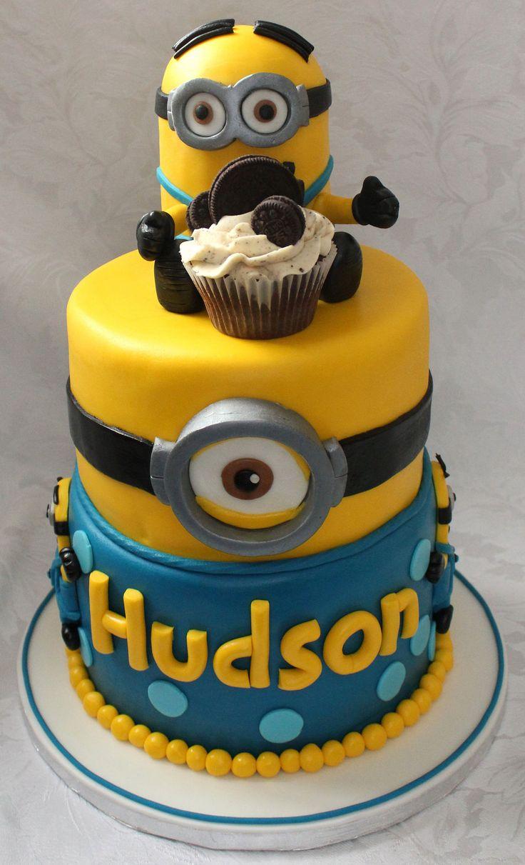 Deliciosa tarta para fiesta temática Minions. #tarta #Minions