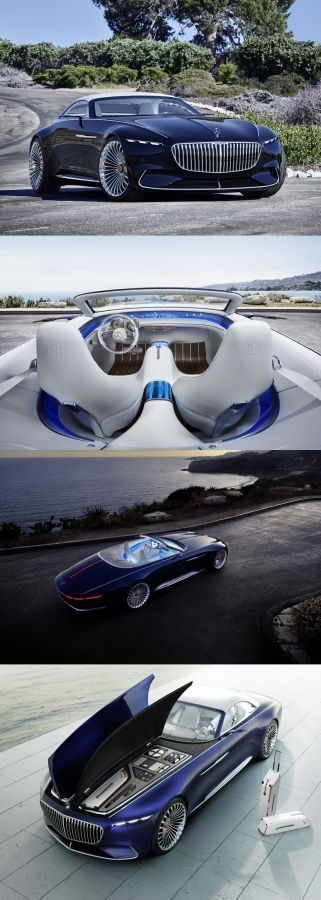Vision Mercedes-Maybach 6 Cabriolet: Revelation of luxury #mercedes #maybach #design #cardesign #car #conceptcar #automotive #transport #productdesign #future